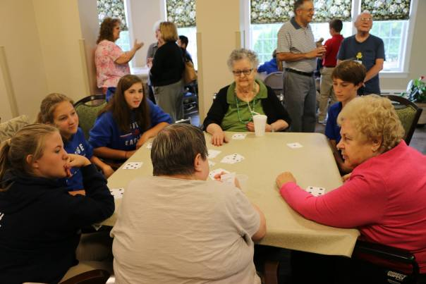 Middle school students minister at local nursing home